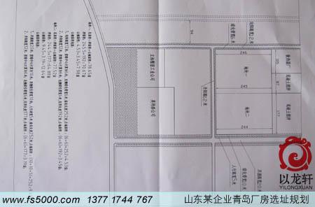 山东某企业青岛厂房选址规划:以龙老师所选之地的平面图布
